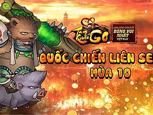 Khởi động Quốc Chiến mùa thứ 10, Tam Quốc Go gửi tặng độc giả 300 Giftcode