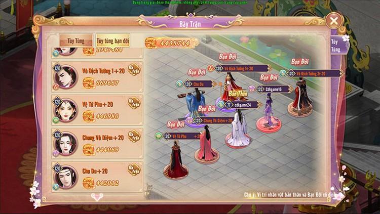 Đấu Trường Phu Thê Liên khiến game thủ 360mobi Cung Đình Kế mong đợi
