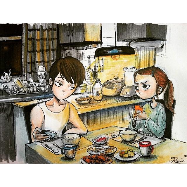 Bộ tranh về những điều nhỏ bé dễ thương chỉ những cặp đôi yêu nhau thực sự mới có