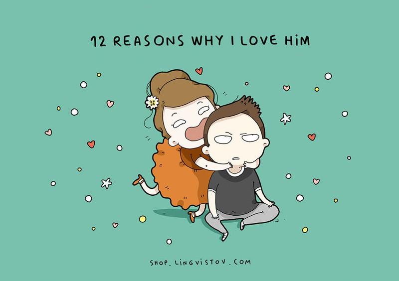 12 lý do tôi yêu anh ấy - Bộ tranh khiến cư dân mạng thích thú vì quá dễ thương marry