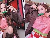 """Ngất ngây với bộ ảnh cosplay """"em gái quốc dân"""" Nezuko được thực hiện bởi ngôi sao Nhật Bản"""