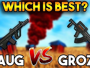 Groza và AUG A3 đâu là khẩu súng AR tốt hơn trong PUBG Mobile