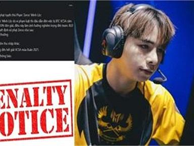 SBTC tuyên bố xử phạt tuyển thủ 'Zeros' - Phạm  Minh Lộc vì hành vi của mình.
