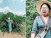 Cô gái review mận Mộc Châu xem chua hay ngọt, chỉ qua biểu cảm khuôn mặt đã khiến dân mạng chảy nước miếng