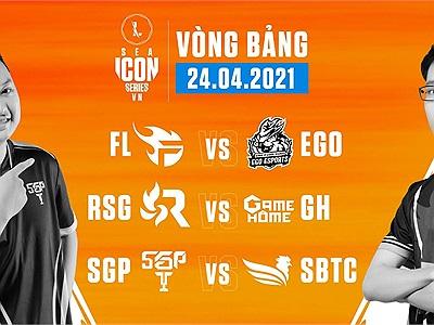 ICON Series SEA Mùa Hè 2021: Kết quả ngày thi đấu 24/04, trận đấu tâm điểm SBTC Esports vs SGP