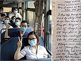 """Tuyệt vời hình ảnh y bác sĩ Thái Nguyên hăm hở lên đường hỗ trợ tâm dịch Bắc Giang: """"Vải thiều gọi Trà xanh trả lời!"""""""