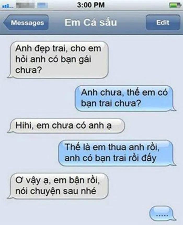 Không đỡ được với loạt tin nhắn siêu hài hước của các cặp đôi lầy lội