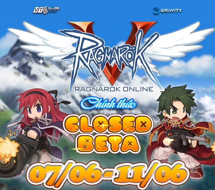 Thông báo Closed Beta cho Ragnarok Online tại Việt Nam.