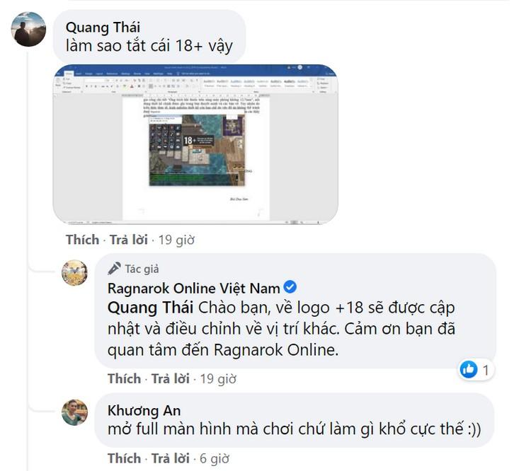 Game thủ nhiệt tình đóng góp ý kiến cho Ragnarok Online.