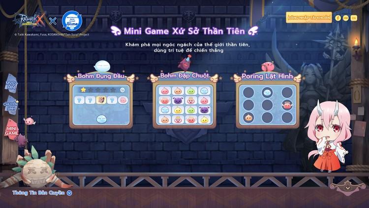 mini game xứ sở thần tiên trong ragnarok x