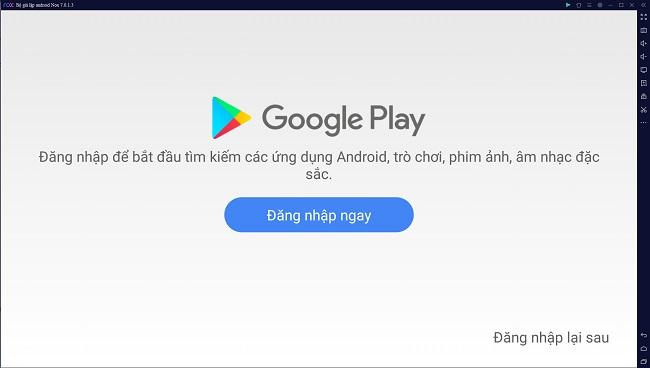 đăng nhập tài khoản google để chơi ragnarok x bằng giả lập