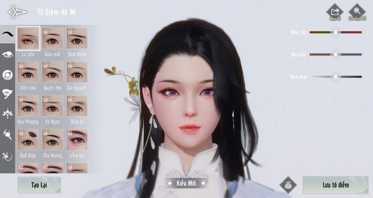 Nhất Mộng Giang Hồ VNG tính năng thay đổi diện mạo nhân vật